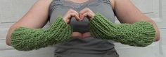 Bubbly Green Tea Fingerless Gloves hand knit green by LilMindas, $30.00