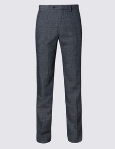 Flat Front Textured Trousers Tall Pants, Mens Big And Tall, Pajama Pants, Just For You, Trousers, Sweatpants, Flat, Stylish, Tops