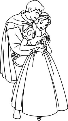 Cool Snow White And The Prince Bird Coloring Page
