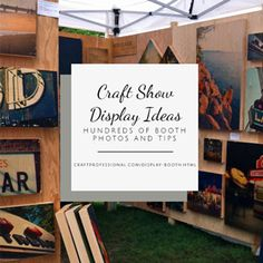 Click through for 100+ gorgeous craft booth photos! http://www.craftprofessional.com/display-booth.html