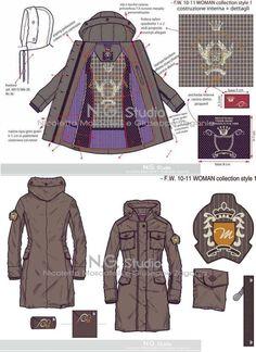Jacket #illustratorstuff #fashionflats #fashiontemplates #fashionsketches: