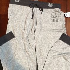 "Old Navy jogger pant New with tags. Heather grey. Super soft and stretchy. Light weight. Soft wide elastic waist with tie. 27"" inseam Old Navy Pants Track Pants & Joggers"