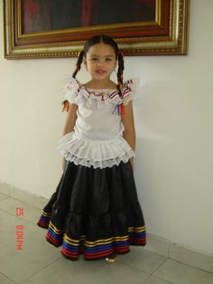 Colombian Attire for the little girls