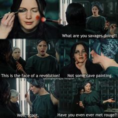 OMG I'VE SEEN THIS IN THE DELETED SCENES FOR MOCKINGJAY PART ONE..... TOO BAD IT WASN'T INCLUDED IN THE MOVIE.... ❤️❤️❤️❤️
