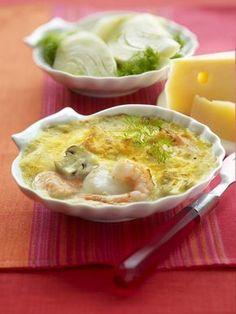 Een overheerlijke visgratin met oud brugge of brugge prestige kaas , die maak je met dit recept. Smakelijk!