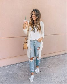 Sneakers outfit summer fashion looks casual 64 Ideas Simple Outfits, Outfits For Teens, Casual Outfits, Cute Outfits, Fashion Outfits, Sneakers Fashion, Sneakers Outfit Summer, Sneaker Outfits, Looks Jeans