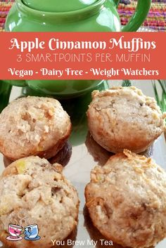 Apple Cinnamon Muffins are a must have in the fall when the weather cools off and this recipe is a great healthier option at only 3 SmartPoints per muffin!  This is a great Weight Watchers Muffin recipe that everyone will love!