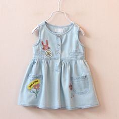 Find More Dresses Information about 2016 Girls Denim Dress Cartoon Princess Dress Sleeveless casual children's clothing,High Quality clothing studs,China clothing plastic Suppliers, Cheap dress long sleeve tunic dress from Little Lisa on Aliexpress.com