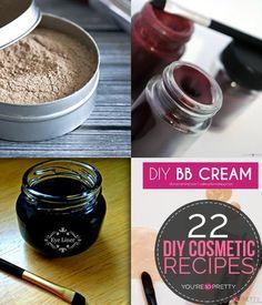 DIY Makeup Recipes 2017 / 2018 : 22 DIY Cosmetics   Easy Makeup Recipe Ideas  Youre So Pretty