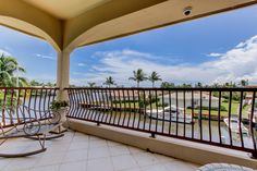 A PRIVATE BALCONY OFF OF THE MASTER SUITE OVERLOOKS THE INTRACOASTAL. #JAGHOMES #LANGREALTY #JULIEANNGIACHETTI #REALESTATE #DELRAYBEACH