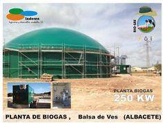contenedor planta de biogas BALSA DE VES albacete 250 KW INDEREN biodigestores ENERGIAS RENOVABLES VALENCIA