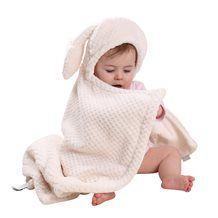 BUNNY EARS BABY BLANKET in Cream  @cuckoolandcom #dreamnursery