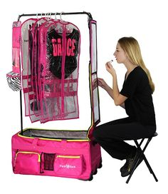 Dance Bag With Garment Rack Simple How To Make Your Own Rolling Dance Bag With Garment Rack  Pinterest