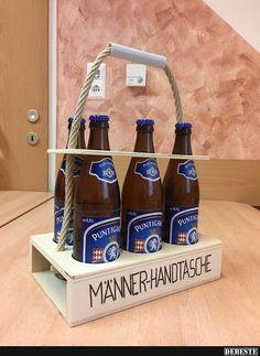Männerhandtasche / Bierträger mit kostenloser Gravur