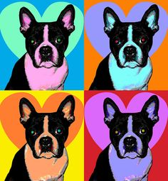 Custom Pet Portrait Pop Art 11 x 14 by RuffStuffDog on Etsy