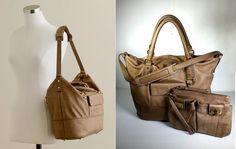 $498 J.CREW Leather HANDBAG & CONVERTIBLE Large Sabina Wristlet *Excellent* #JCREW #Hobo