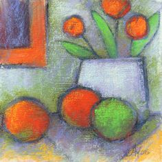 Original contemporary still life in pastel by Janine Aykens.  More info at janine-aykens.blogspot.com.  Please share with a friend if you like my work!