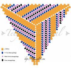 Gyöngycsiga: Csavart háromszög minta
