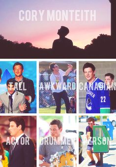 Cory Monteith!!! R.I.P Glee  wont be the same without him