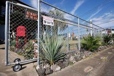 Sliding Gate, Beware Of Dog, Garden Entrance, Outdoor Living, Outdoor Decor, California Style, Exterior Design, Outdoor Structures, Landscape