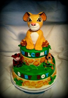 Lion+King+Baby+Shower+Cake+Ideas | Lion King Themed Baby Shower Cake - by rushing31 @ CakesDecor.com ...