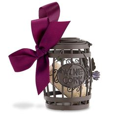 Wine Barrel Cork Cage® Bottle Ornament Cherish a special moment by storing a memorable wine cork in our new Cork Cage® Ornaments! Christmas Wine, Christmas Ornaments To Make, Christmas Crafts, Christmas Stuff, Cork Ornaments, Hanging Ornaments, Cork Crafts, Diy Crafts, Martini