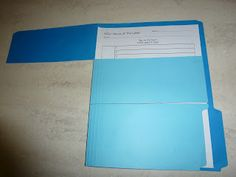 Cut a file folder into strips. The shorter the attention span, the smaller you will cut the strips. I cut this one into 3 parts. Students open 1 flap at a time and always begin at the top and work their way down. Students complete the work that they can see when a flap is open.