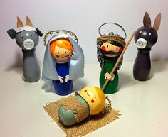 Belén bon botellas Nativity, December, Christmas Christmas, Christmas 2017, Toilet Paper Rolls, Craft Kids, Births, Nativity Sets, Canisters