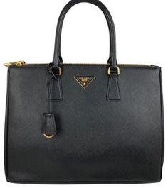 eb23543a763b Prada Medium Saffiano Black Leather Tote - Tradesy Black Leather Tote, Prada  Saffiano, Interior