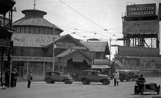Old Perth Markets.It opened on 1 September 1897,on the corner of William and Wellington Streets,Perth in Western Australia.By 1937, the building was deserted   (year unknown).