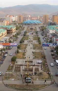 the capital city of Mongolia..Ulaanbaatar