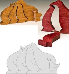 Animal Scroll Saw Puzzle Pictures Más Small Woodworking Projects, Wooden Projects, Wood Crafts, Scroll Saw Patterns, Wood Patterns, Wood Games, Wooden Jigsaw Puzzles, Kids Wood, Wood Creations