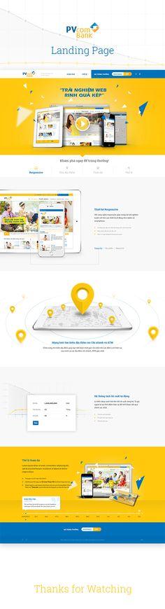 PVcomBank Landing Page on Behance