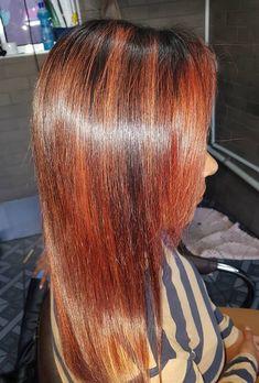 Indian Long Hair Braid, Braids For Long Hair, Red Highlights, Braided Hairstyles, Long Hair Styles, Beauty, Long Hairstyle, Braid Hair, Long Haircuts