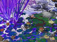 http://fineartamerica.com/featured/water-lilies-blue-margaret-newcomb. Water Lilies Blue by Margaret Newcomb.