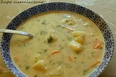 Zupa ziemniaczana Polish Recipes, Polish Food, Holiday Desserts, Cheeseburger Chowder, Stew, Recipies, Food And Drink, Cooking, Dinner Ideas
