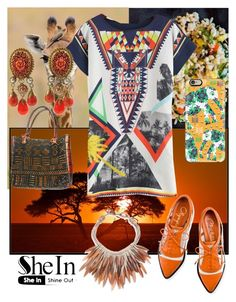 """africa"" by fashionshelter ❤ liked on Polyvore featuring Charlotte Olympia, Nest, Casetify, GAS Jeans and shein"