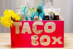 The New Baby Taco Box - gift (food) idea for new parents! *Beer is optional (don't if breast feeding) and sub with root-beer or another favorite carbonated beverage! #gift