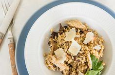 Risotto med ristede svampe og kylling - nemlig.com