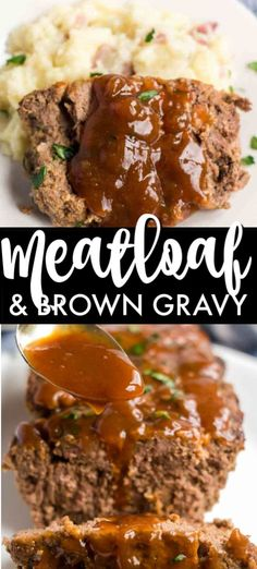 Classic Meatloaf with Brown Gravy for those nights you re feeling nostalgic and want an easy filling meal comfortfood easyrecipe meatloaf familydinner dinner Classic Meatloaf Recipe Easy, Easy Meatloaf Recipe With Bread Crumbs, Good Meatloaf Recipe, Meat Loaf Recipe Easy, Meatloaf Recipes, Healthy Meatloaf, Salsa, Brown Gravy Recipe Easy, Beef Gravy Recipe