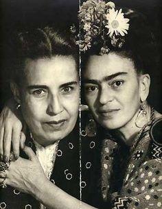Frida Kahlo y Guadalupe Marin