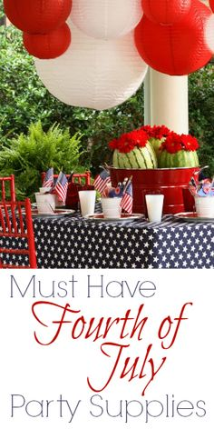 Must-Have Fourth of July Party Supplies {red white and blue salsa!}