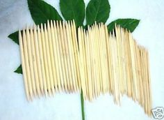 Factorykiss 5 Sets 15 Sizes 8''(20cm) Double Point Bamboo Kitting Needles (2mm - 10mm): Amazon.co.uk: Kitchen & Home