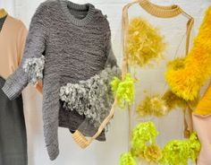 structured jumpers being displayed this has inspired me to how I would display my final pieces at the museum