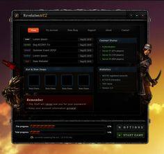 RevMT2 Launcher UI - GUI Portfolio - Aziz Natour