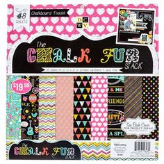 """DCWV """"Chalk Fun"""" Cardstock Paper Pack available at hobbylobby.com for $19.99"""