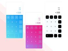 Calculator Daily Ui 004 designed by Ihor Hrynda. Daily Ui, Show And Tell, Calculator