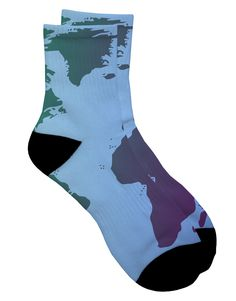 TooLoud Cool World Map Design Adult Short Socks Select Your Size All Over Print
