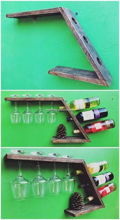 Use Pallet Wood Projects to Create Unique Home Decor Items Diy Pallet Furniture, Diy Pallet Projects, Wood Projects, Woodworking Projects, Rustic Furniture, Furniture Storage, Pallet Ideas, Industrial Furniture, Wood Pallet Wine Rack