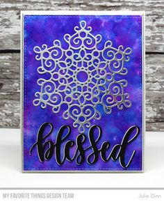 Die-namics: Mesmerizing Mandala, Blessed & Blessings, A2 Stitched Rectangle STAX 2, A2 Rectangle STAX 1  Julie Dinn  #mftstamps